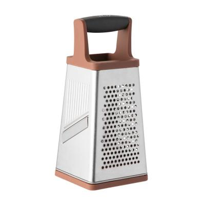 Leo Pink and Grey 4-Sided Box Grater