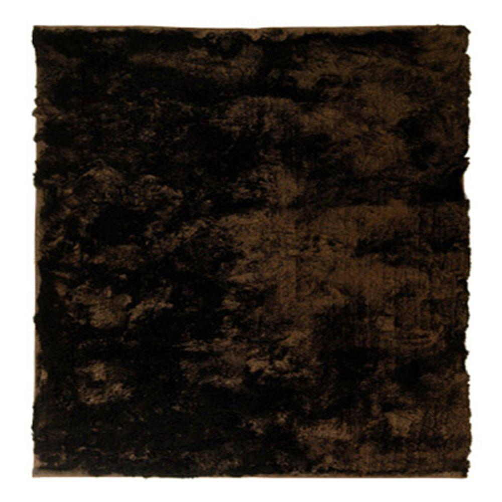 So Silky Chocolate 4 ft. x 4 ft. Square Area Rug