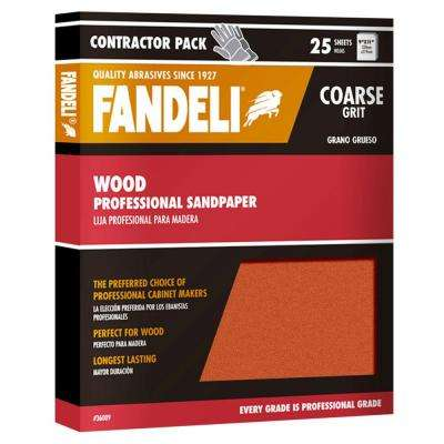 9 in. x 11 in. Coarse Aluminum Oxide Sandpaper (25-Pack)