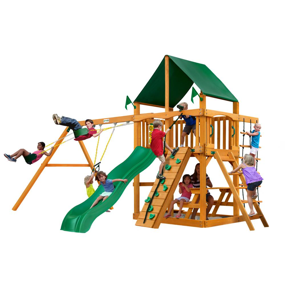 Gorilla Playsets Chateau Wooden Playset With Sunbrella Canvas