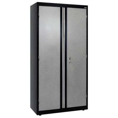 72 in. H x 36 in. W x 18 in. D Modular Steel Storage Cabinet Full Pull in Black/Multi-Granite