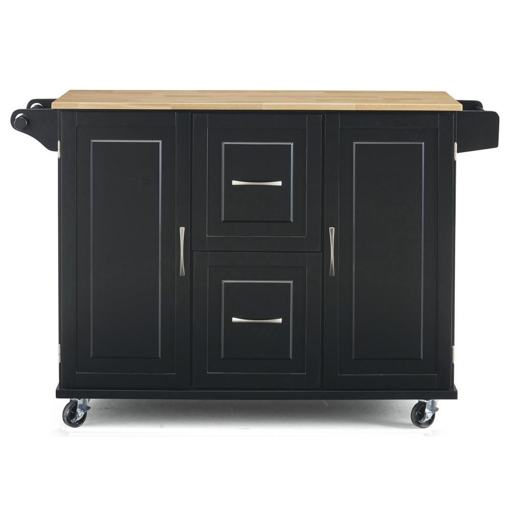 Patriot Black Kitchen Cart