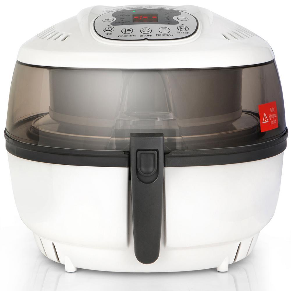 6.3 Qt. White 8-Program Oil-Less Digital Turbo Electric Baking Grill Air Fryer Roaster