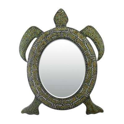 41 in. x 28 in. Reflecting Tortoise Framed Mirror