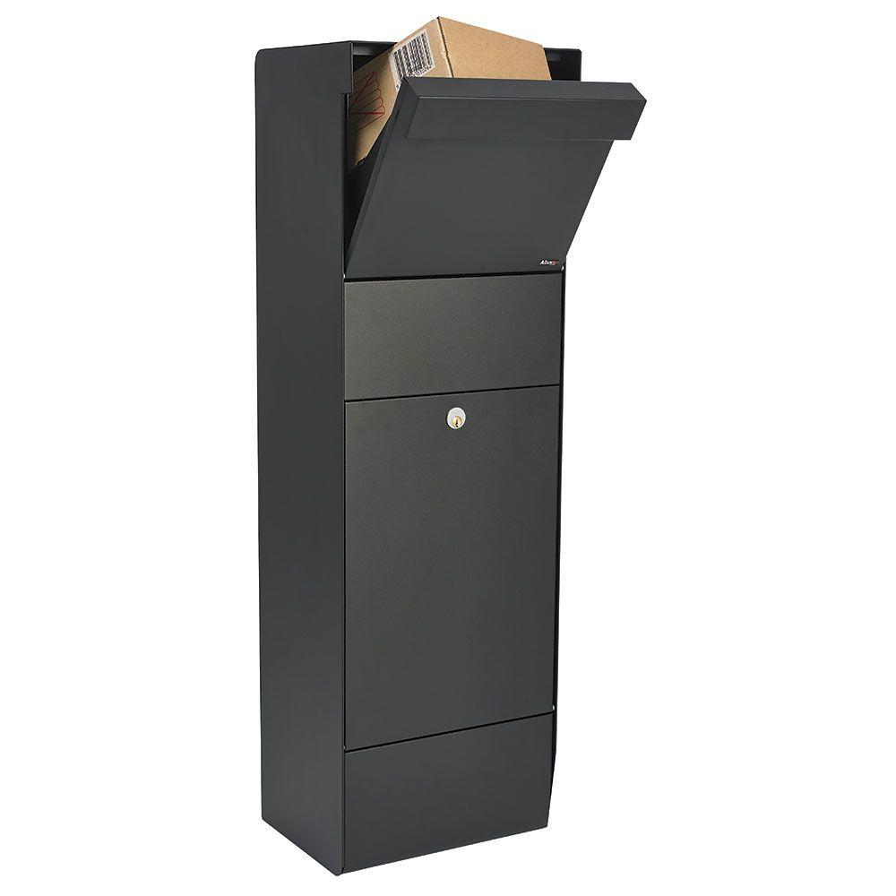 Allux Freestanding Grand Form Mail/Parcel Box in Black