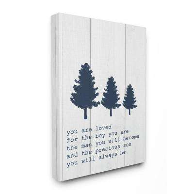 "16 in. x 20 in. ""You Are Loved Son Three Tree Planks"" by Daphne Polselli Canvas Wall Art"