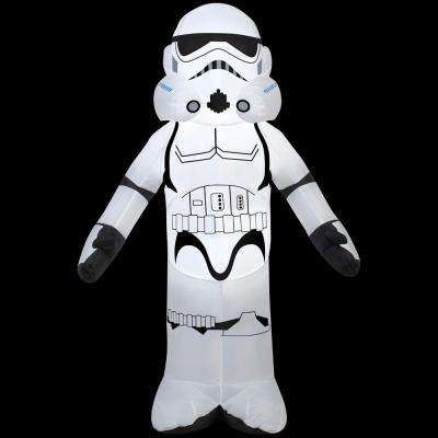 27.56 in. W x 13.78 in. D x 42.13 in. H Lighted Inflatable Storm-Trooper