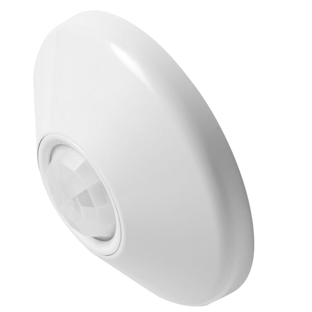 Lithonia Lighting Ceiling Mount Extended Range Small Motion Sensor with Dual Technology and Isolated Low Voltage Relay