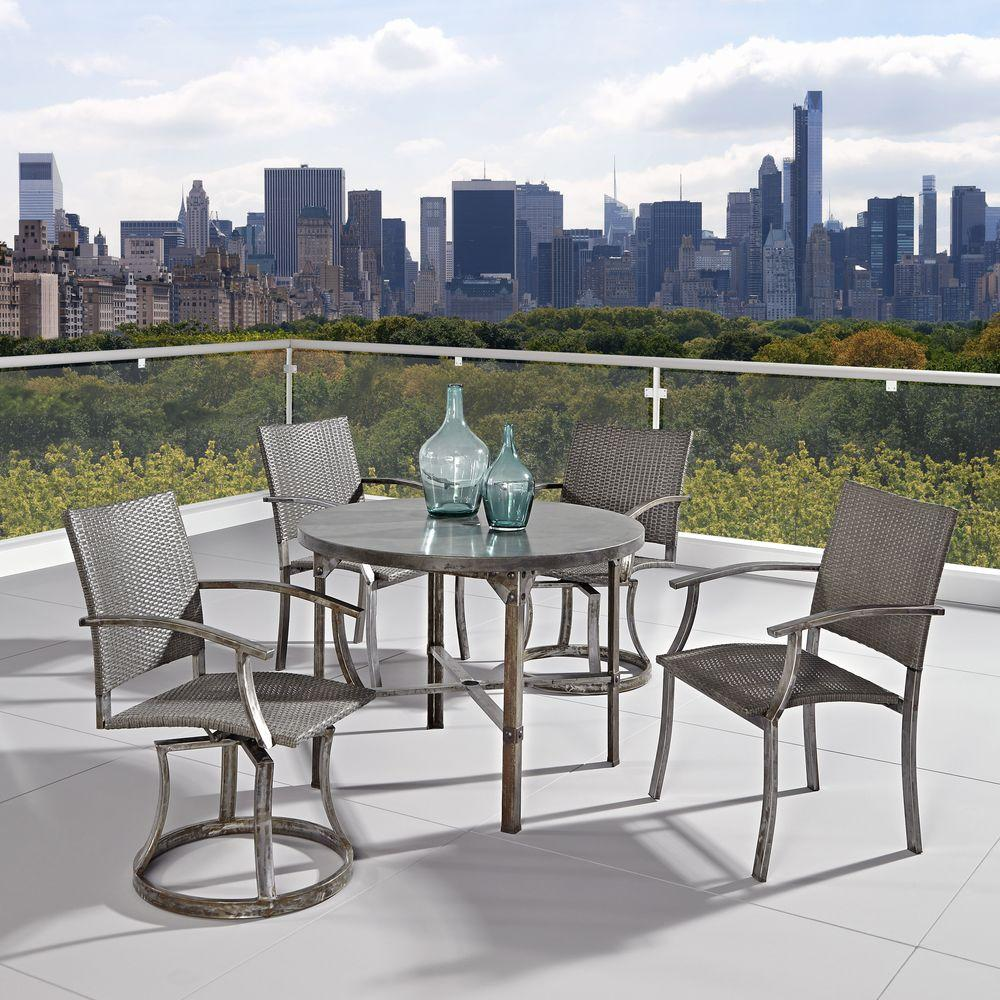 Home Styles Urban Outdoor 5-Piece Patio Dining Set