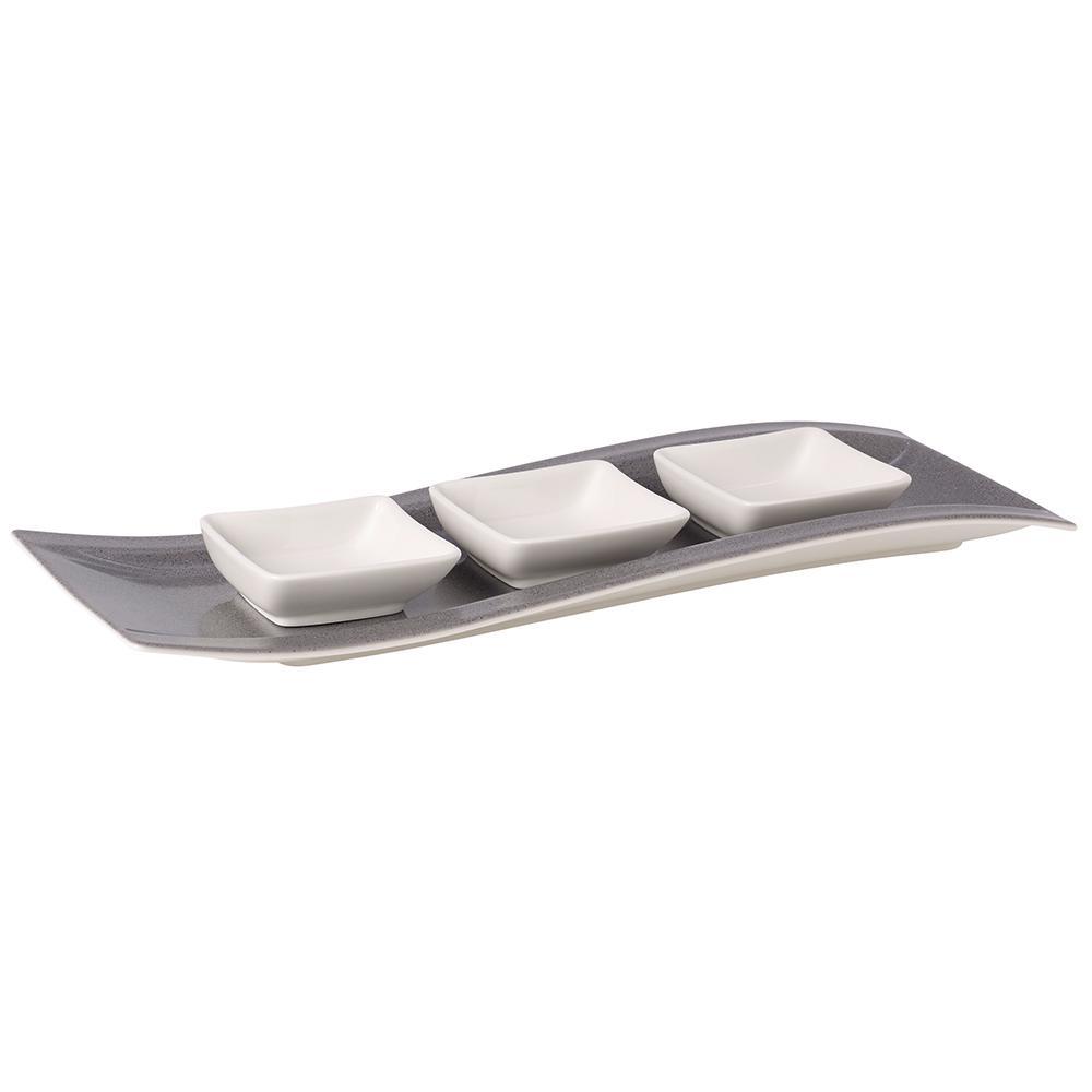 Villeroy & Boch New Wave 4-Piece Glazed Stone Antipasti Set 1041989072