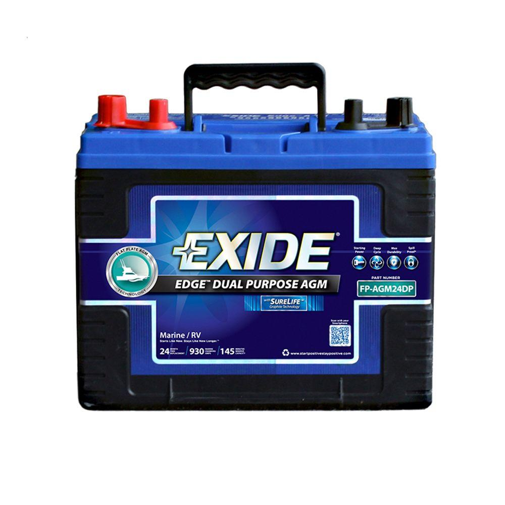 Car Batteries Battery Charging Systems The Home Depot Gmc Sierra Dual Kit 24 Marine Purpose Agm