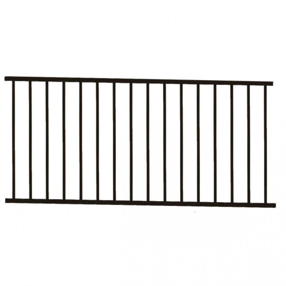 RDI 8 ft. x 34 in. Bronze Level Rail Panel for Square Baluster