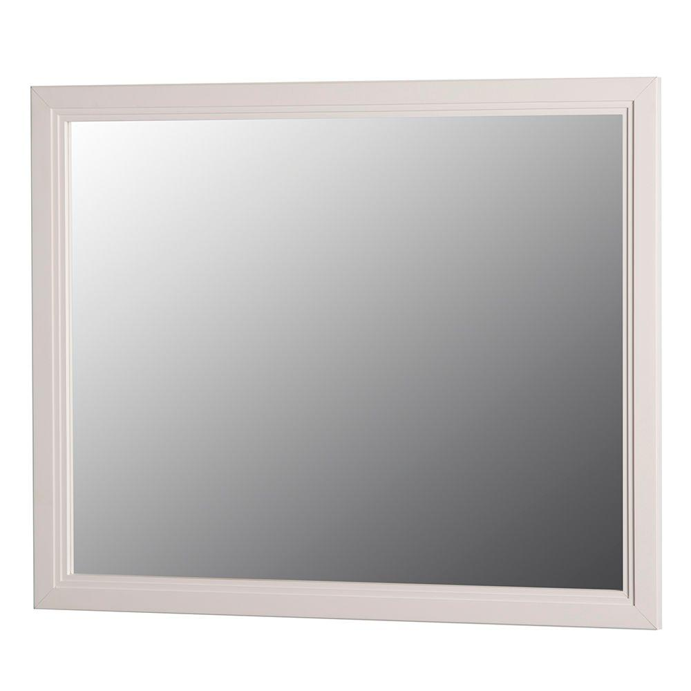 Home Decorators Collection Brinkhill 31 In W X 26 In H Wall Mirror In Cream Bwwm26 Cr The
