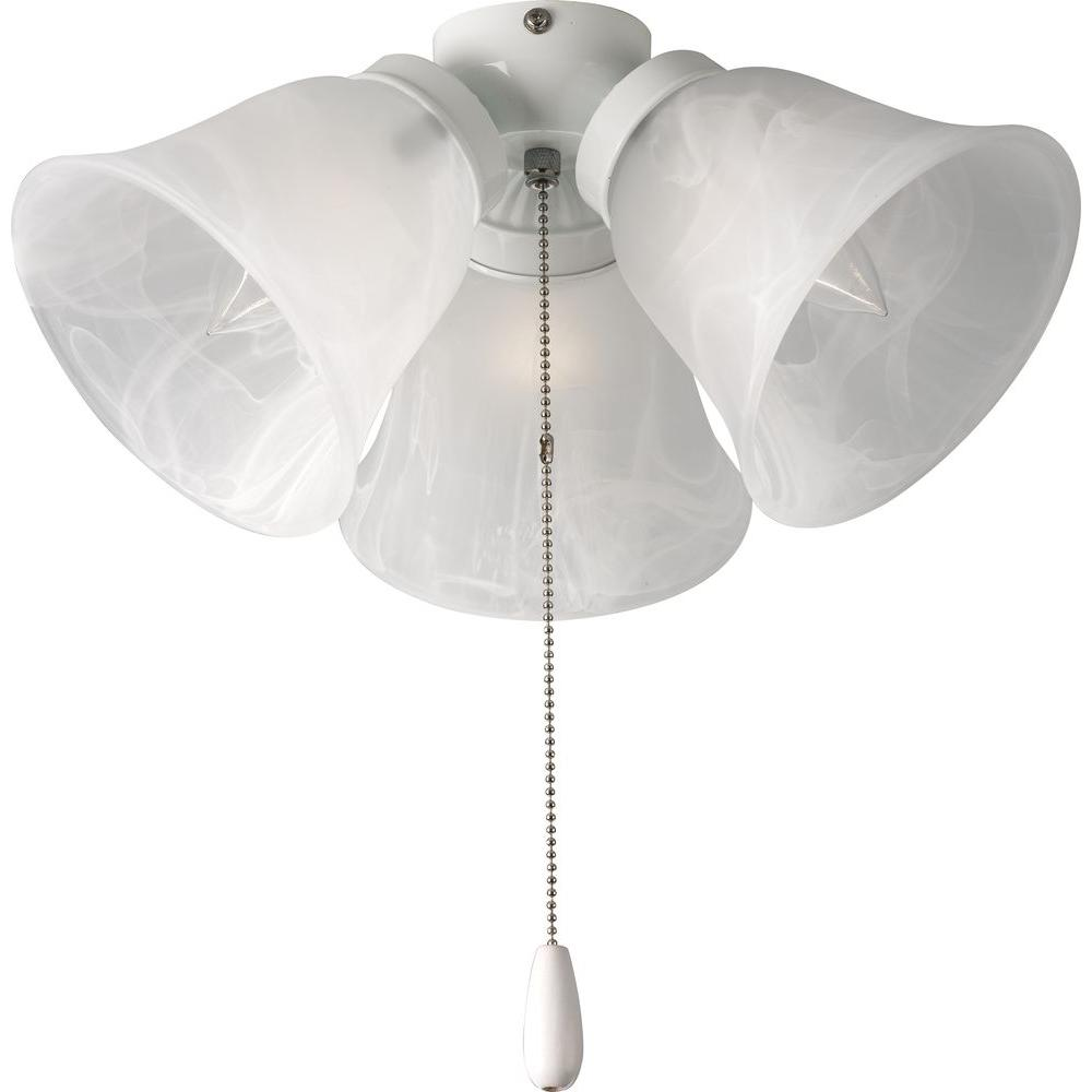 Progress Lighting Airpro 3 Light White Ceiling Fan Light