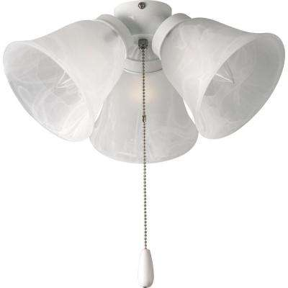 AirPro 3-Light White Ceiling Fan Light