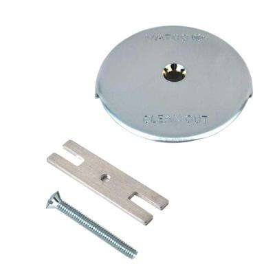 1-Hole Bathtub Overflow Plate Kit in Chrome Plated