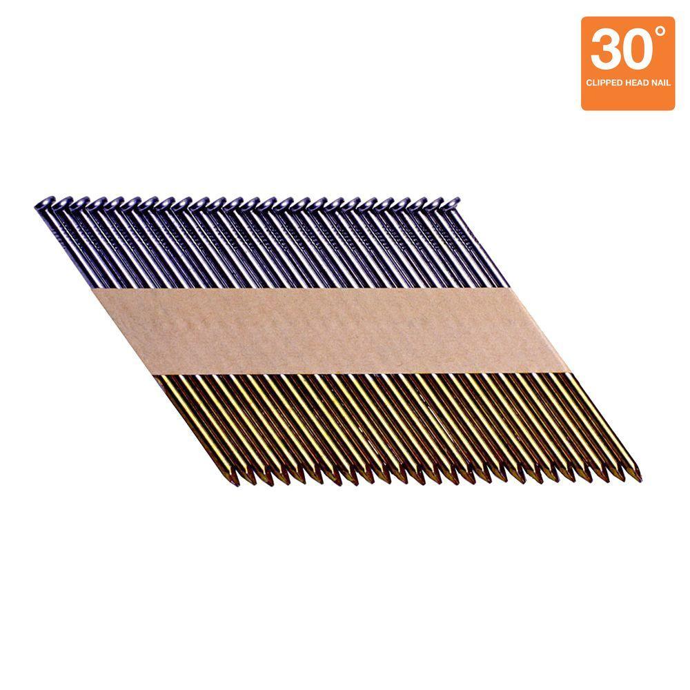 3 in. x 0.120-Gauge Paper Bright Smooth Shank Bright Steel Clip-Head