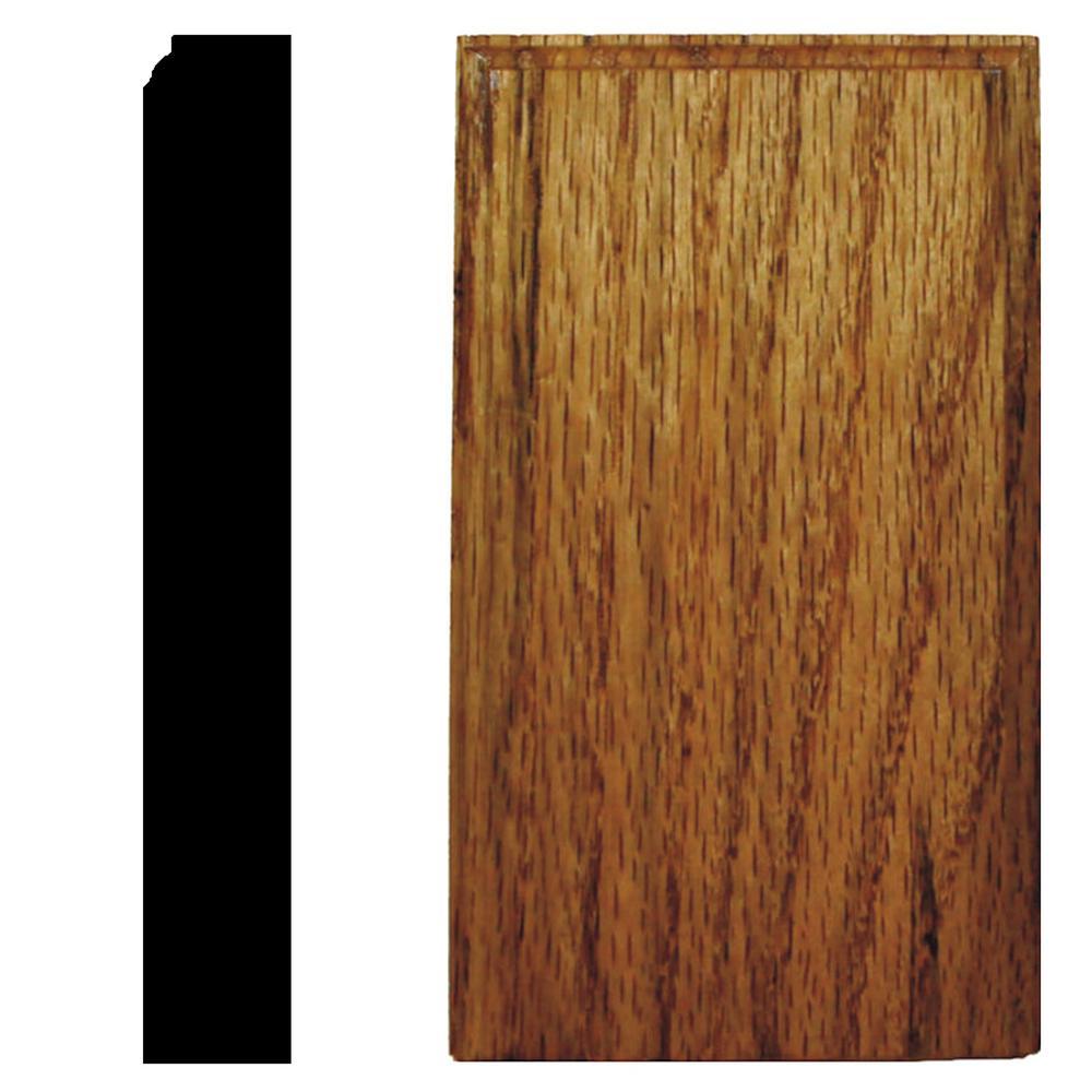 7/8 in. x 3-1/2 in. x 6 in. Oak Honey Oak Stained Plinth Block Moulding