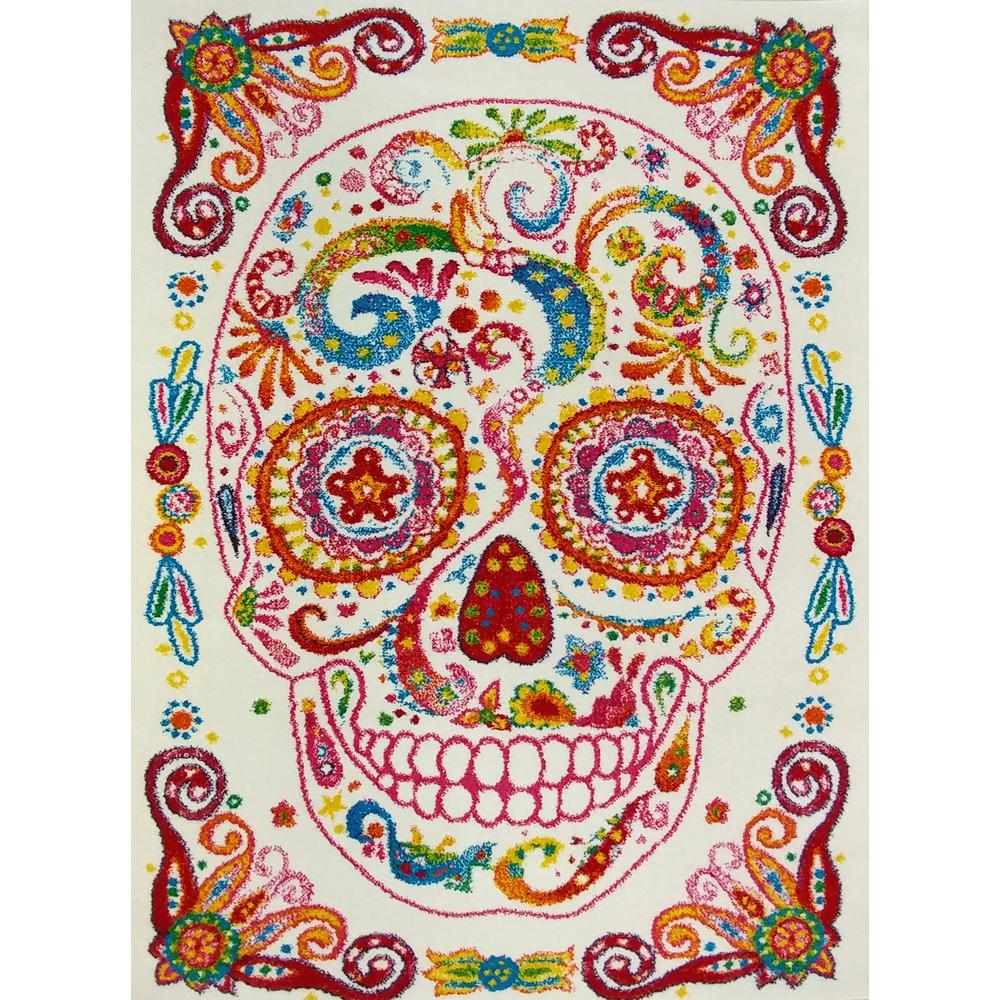 Exceptionnel KC CUBS Multi Color Kids Children And Teen Bedroom Playroom Rainbow Happy  Sugar Skull Design