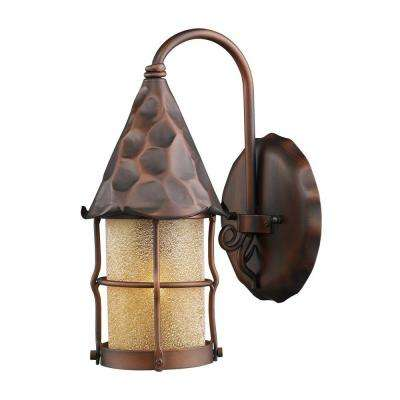 Rustica 1-Light Wall Mount Outdoor Antique Copper Sconce