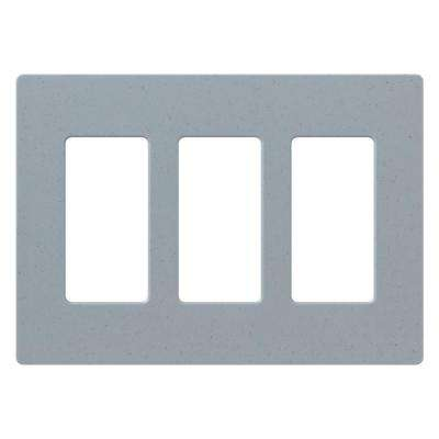 Claro 3 Gang Decorator Wallplate, Bluestone