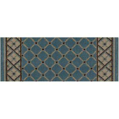 Stratford Bedford Light Blue 9 in. x 26 in. Stair Tread Cover