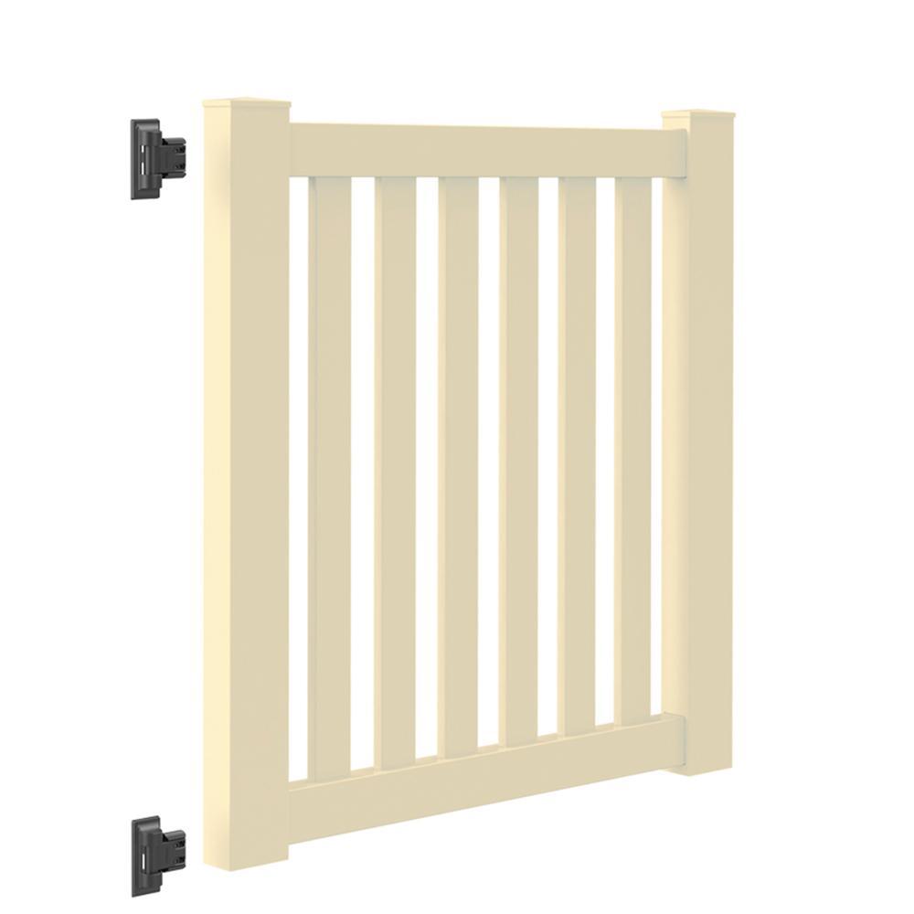 Colorado 4 ft. W x 4 ft. H Sand Vinyl Un-Assembled Fence Gate