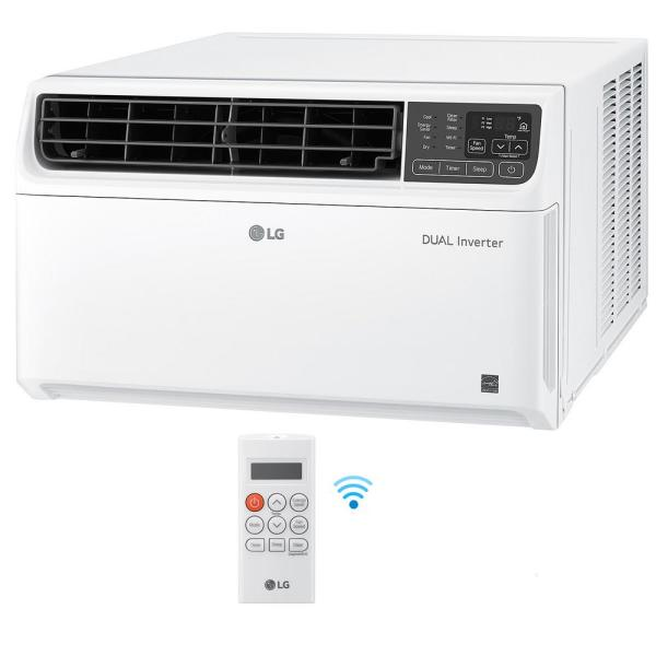 14,000 BTU 115-Volt Dual Inverter Smart Window Air Conditioner in White with Wi-Fi Enabled and Remote