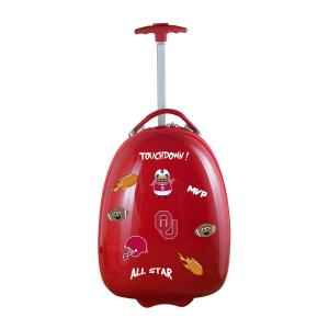 NCAA Oklahoma 18 in. Red Kids Pod Luggage Suitcase