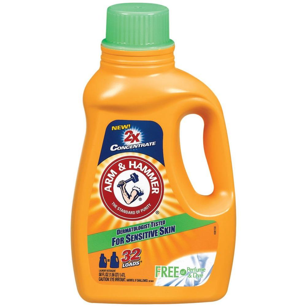 Arm and Hammer 50 oz. Liquid Laundry Detergent for Sensitive Skin (8-Pack)