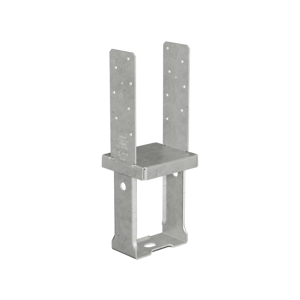 Simpson Strong-Tie 6 in. x 6 in. 12-Gauge Hot-Dip Galvanized Standoff Column Base with SDS Screws