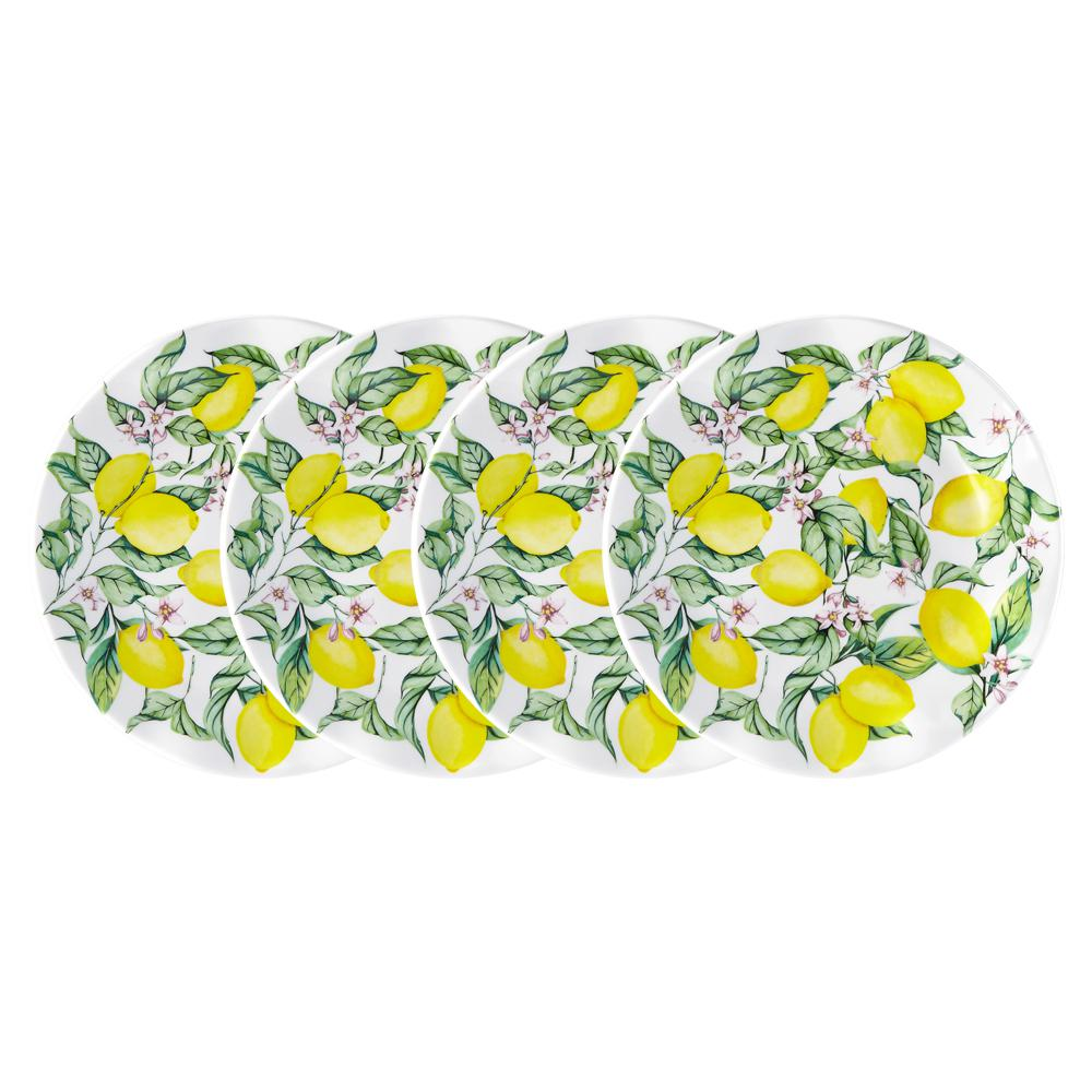 Limonata 4-Piece Yellow Melamine Salad Plate Set
