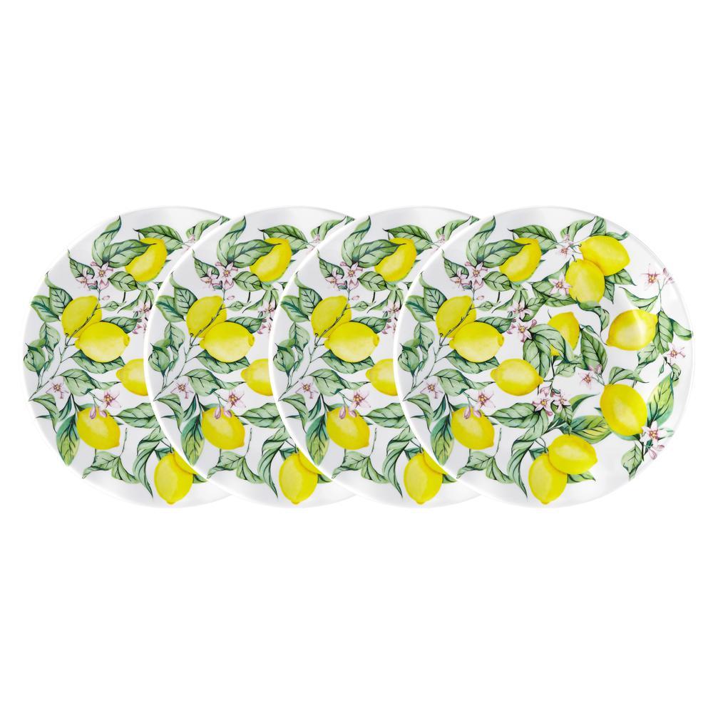 Limonata 4-Piece Yellow Melamine Salad Plate Set