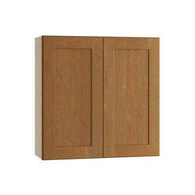 Hargrove Assembled 36x30x12 in. Wall Double Door Cabinet in Cinnamon