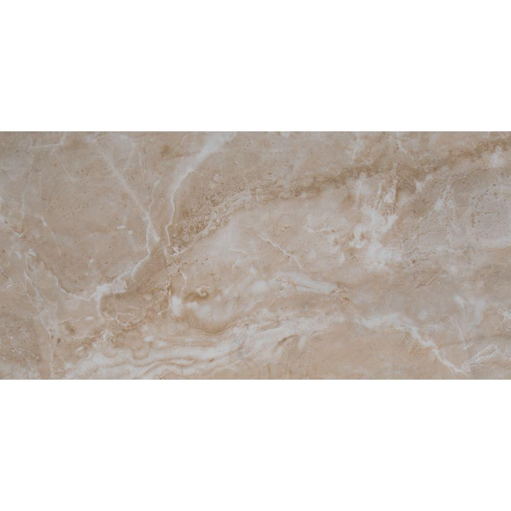 Msi Cancun Beige 12 In X 24 In Glazed Ceramic Floor And