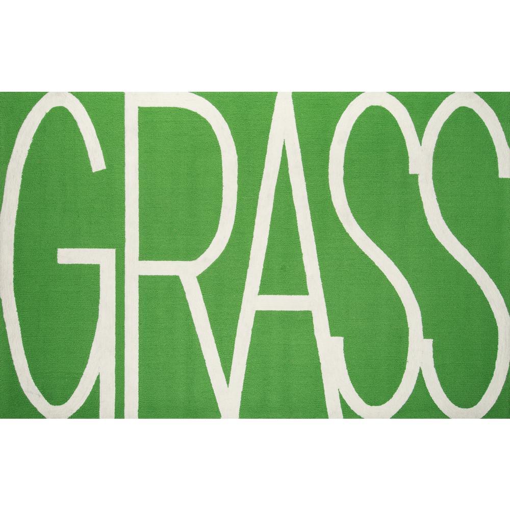 Grass Indoor/Outdoor Green 8 ft. x 10 ft. Indoor Area Rug