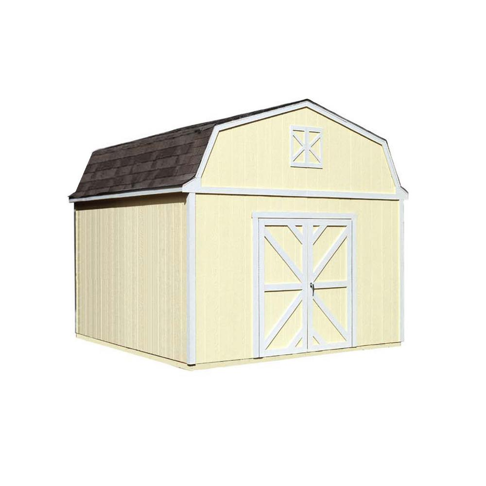 Handy Home Products Sequoia 12 ft. x 12 ft. Wood Storage Building Kit with Floor