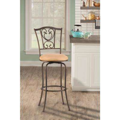Concord 24 in. Brown Swivel Cushioned Bar Stool