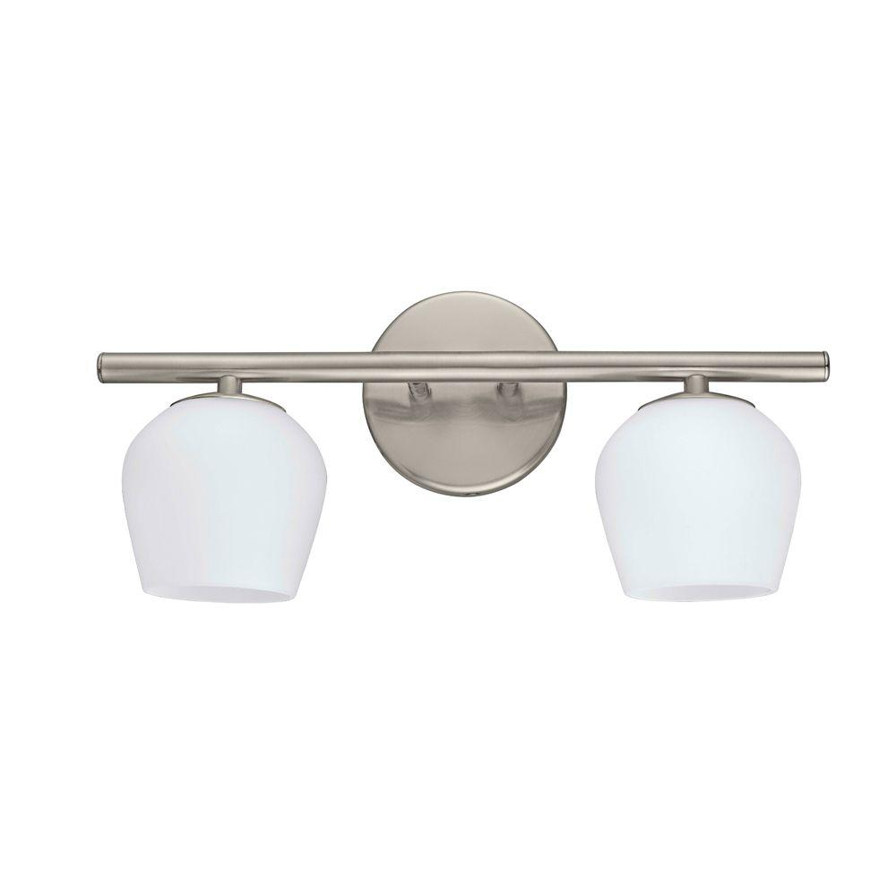 Jasper 2-Light Matte Nickel Vanity Light