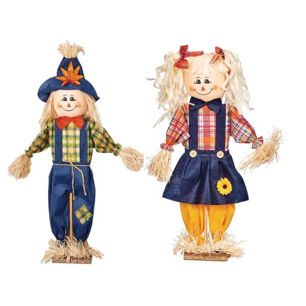 24 In Standing Scarecrow Set Of 2 2239 The Home Depot