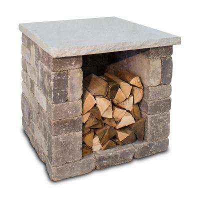 36 in. x 34 in. Outdoor Pizza Oven Wood Box Kit in Bluestone