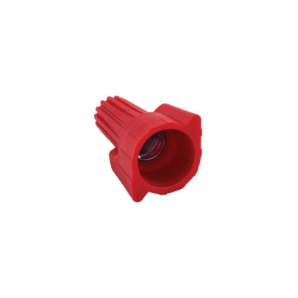 Bag of 500 Red 18-8 AWG Wire Range Easy-Twist Winged Wire Connector 600V Standard Type
