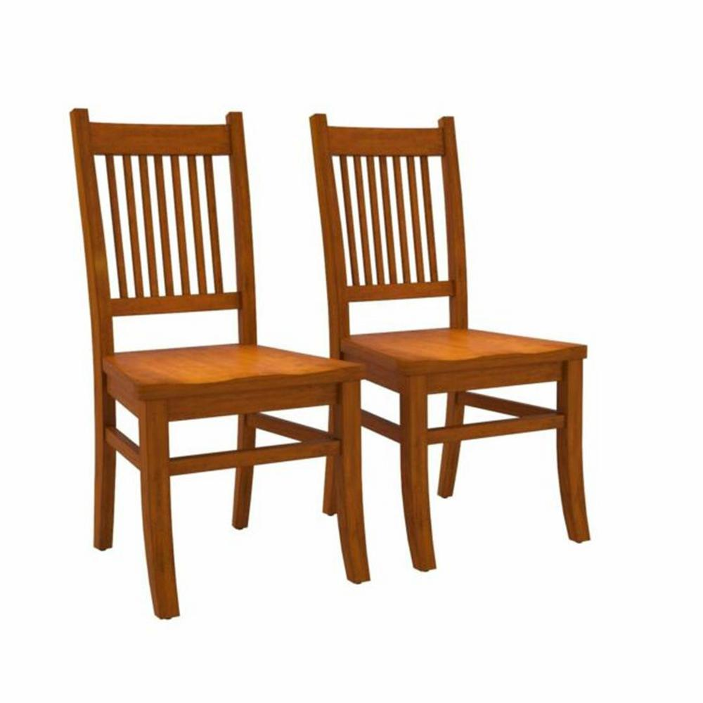 Coaster Home Furnishings Marbrisa Slat Back Side Chairs Sienna Brown Set Of 2 100622 The Home Depot
