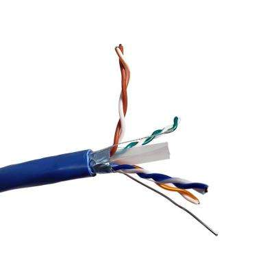 500 ft. Blue Solid Shielded (STP) CAT6 Bulk Ethernet Cable
