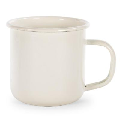 Cream Rolled Edge 12 oz. Enamelware Coffee Mug (Set of 4)