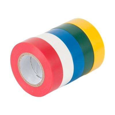 1/2 in. x 20 ft. Colored Electrical Tape (5-Pack)