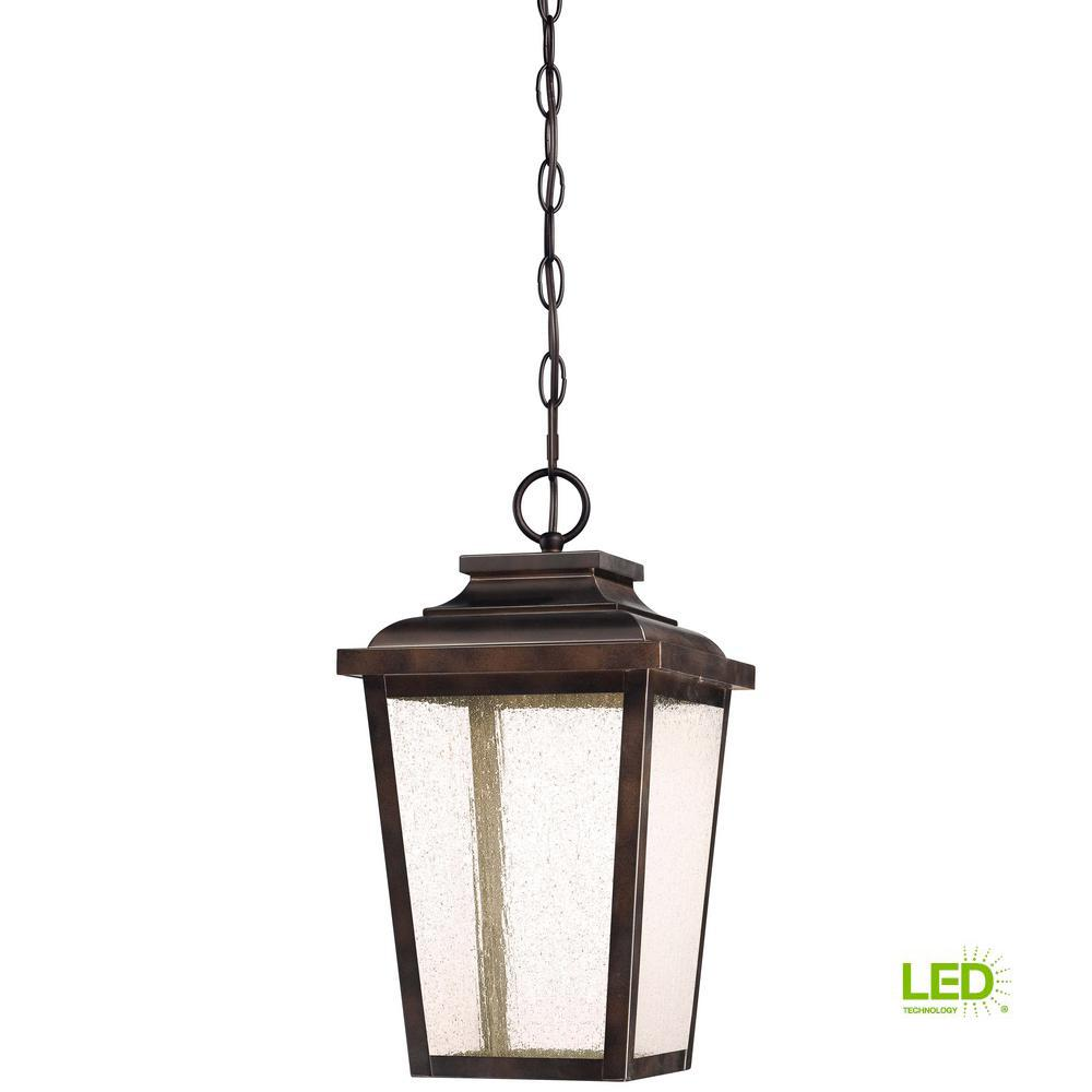 Irvington Manor Collection Outdoor Chelesa Bronze Integrated LED Hanging Lantern