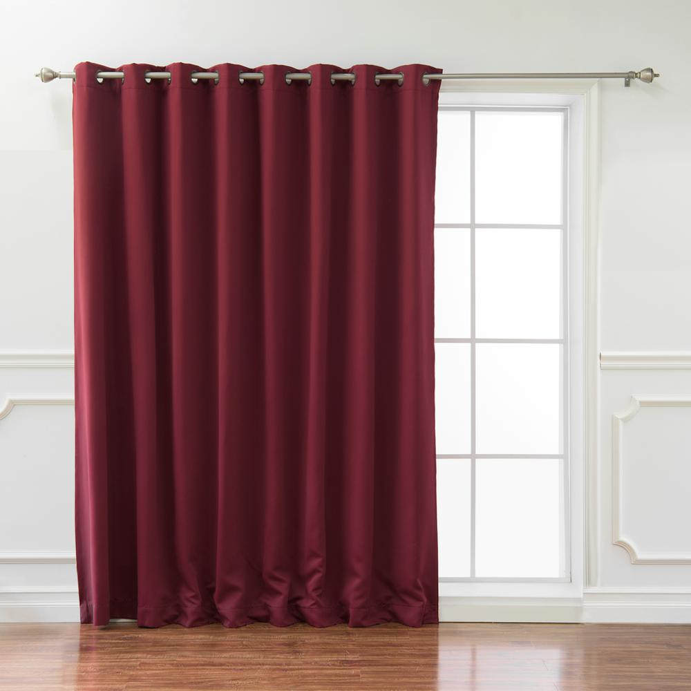 best home fashion wide basic 100 in w x 84 in l blackout curtain in burgundy grom wide 100x84 burgundy the home depot the home depot