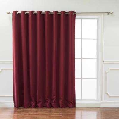 Wide Basic 100 in. W x 84 in. L  Blackout Curtain in Burgundy