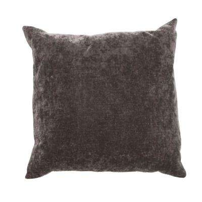 Luxe Charcoal Gray Downfill Decorative Pillow